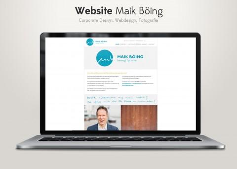 Corporate Design, Webdesign, Fotografie für Maik Böing