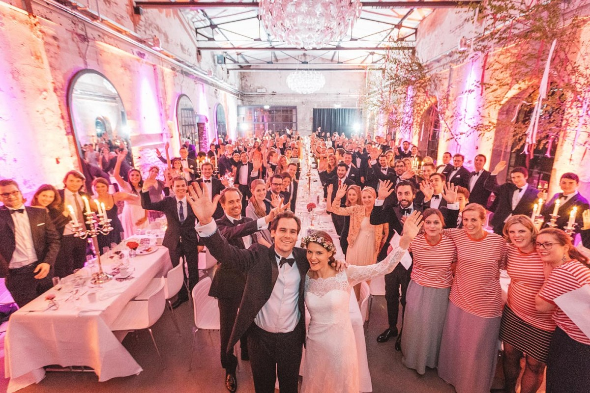Hochzeitsfotograf Köln Harbour Club New Yorker Gruppenbild