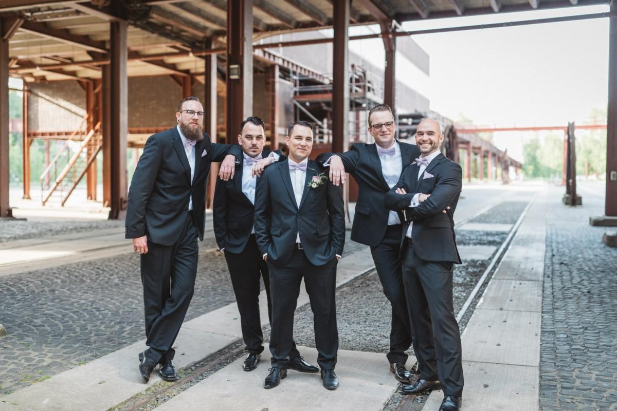Hochzeitsfotograf Zeche Zollverein Essen Hochzeit